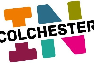 The In Colchester logo