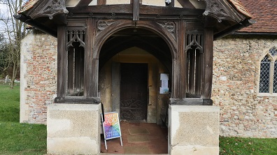 Copford Church door