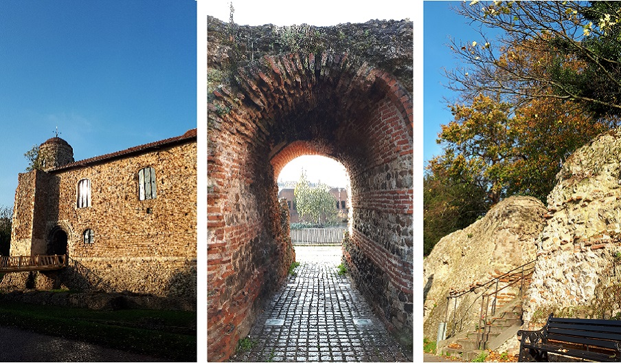 Colchester Castle, The Balkerne Gate and The Roman Wall