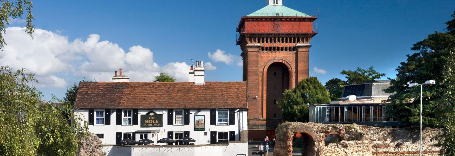 Jumbo and The Balkerne Gate in Colchester Town Centre