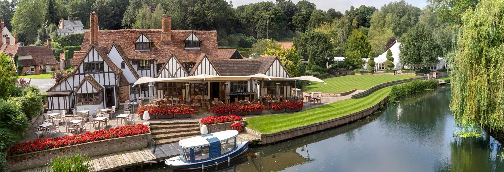 Le Talbooth Restaurant on the River Stour near Dedham